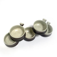 Set of 5 Ceramic Soup Bowls