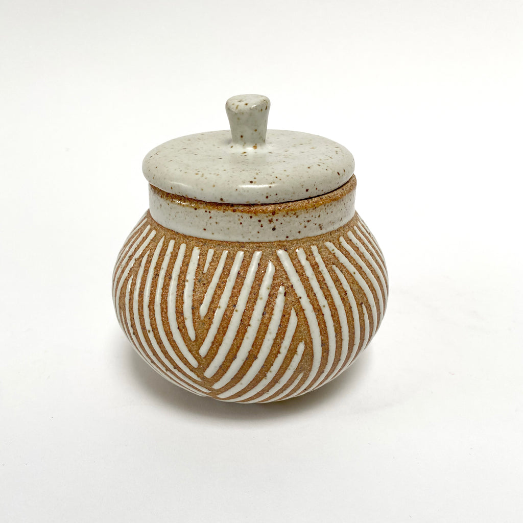 J. Editions Ceramic Jar With Lid - Description Coming!