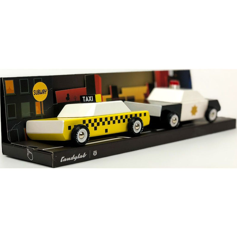 Candylab City Mini Car Set - Taxi Police