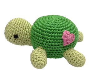 Cheengoo - Turtle Hand Crocheted Rattle