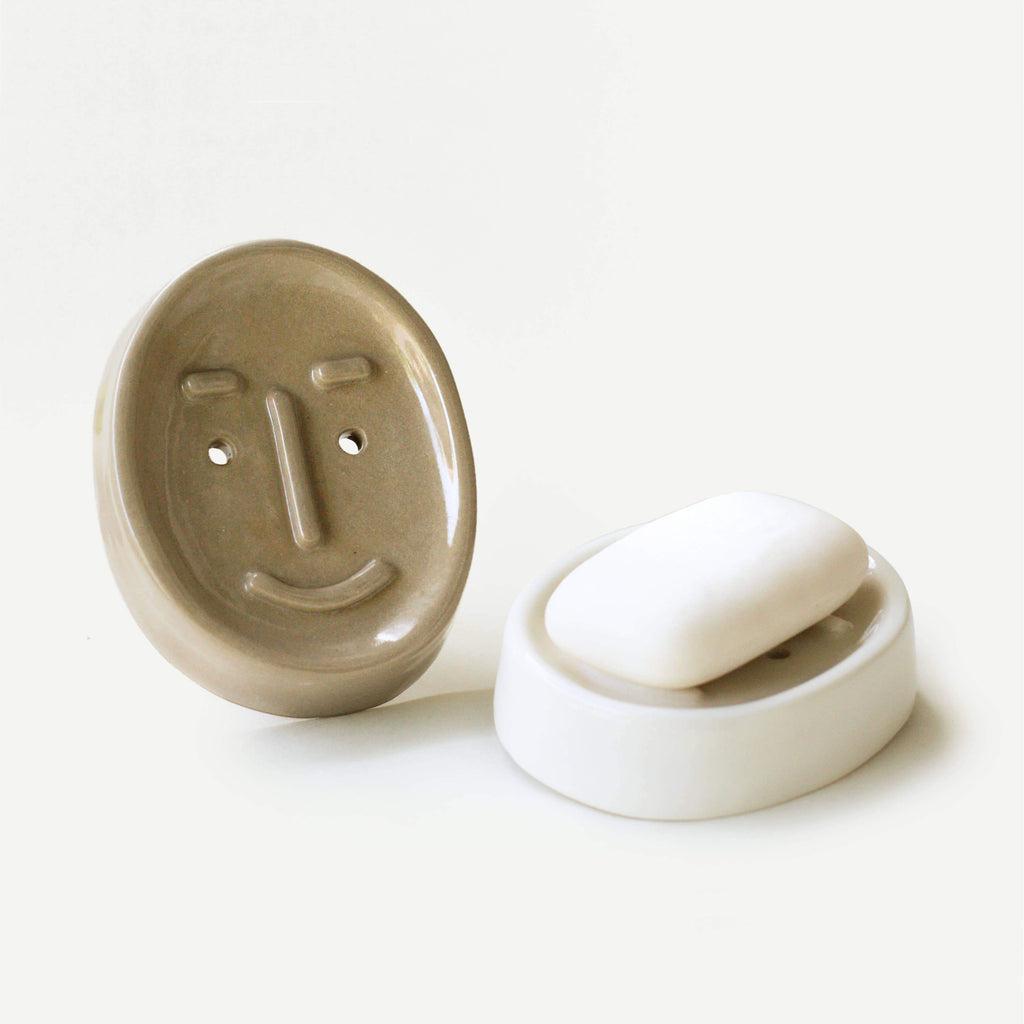 Ceramic face soap dish