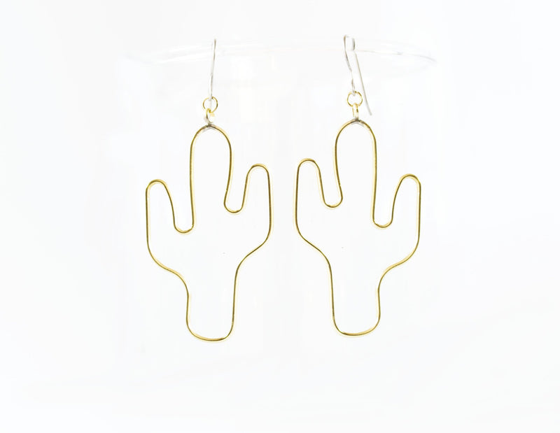 Grey Theory Mill - Cactus Dangle Earrings