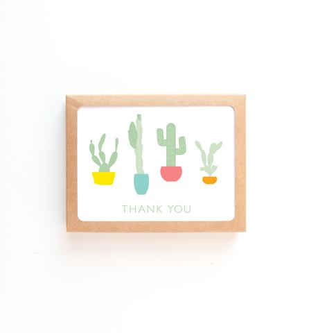 Graphic Anthology - Cacti Thank You Card (Boxed Set of 8)