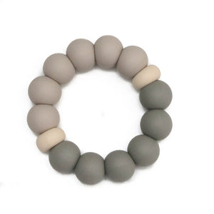 Silicone Teether - Parker -|Taupe Moss|