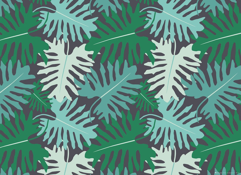 Revel & Co. - Big Tropical Leaves Gift Wrap Roll