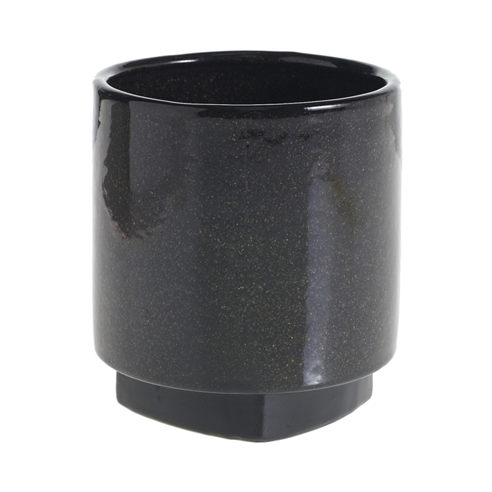 Cylinder Planter - Black Large