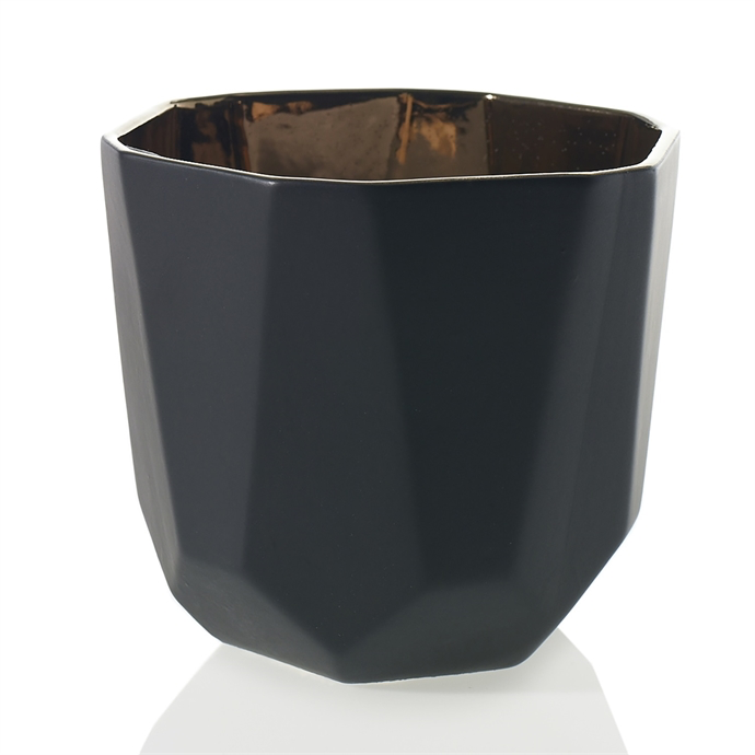"7"" Black Geometric Planter"