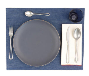 Ubi-Ind Raw Edge Medium Indigo Denim Placemat