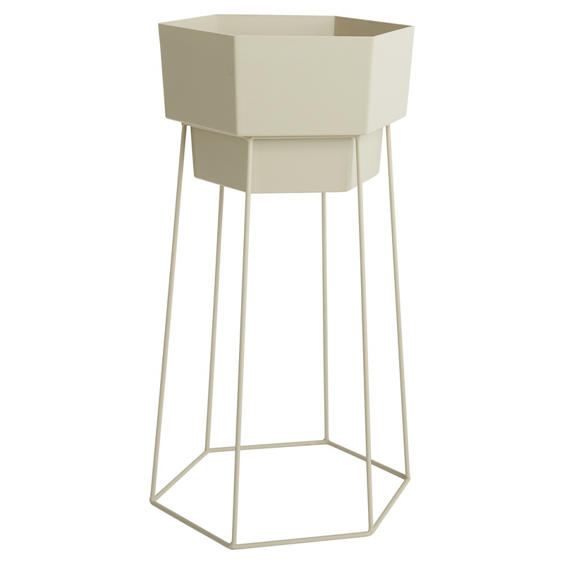 Hexagon Planter with Stand - Tall