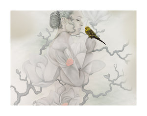 Mother Gaia - Magnolia Cradled Budgie II