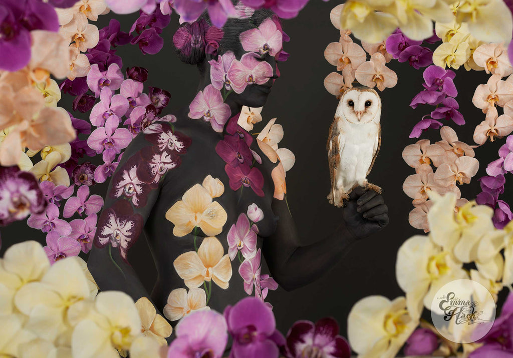 Wotan with orchids
