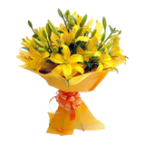 Bunch of 10 Yellow Asiatic lilies