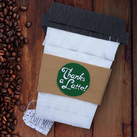 """Thanks a Latte"" Coffee Cup Pinata"