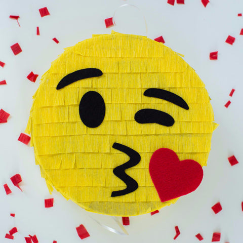 Emoji Pinata kissing kiss