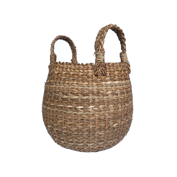 Seagrass Storage Basket With Handles