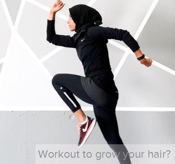 Can exercise cause more hair growth?