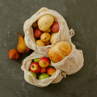 Reusable Certified Organic Cotton Mesh Produce Bags / Eco-Friendly / Buying in Bulk