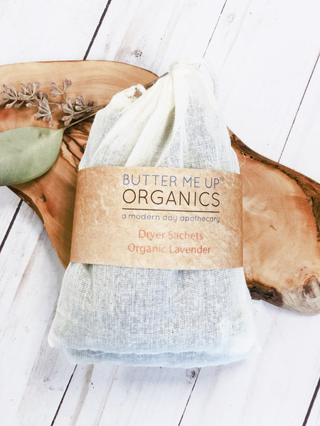 Dryer Sachets with Organic Lavender