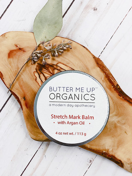 Organic Stretch Mark Body Butter Argan Oil/ Stretch Marks / Stretch Mark Salve / Stretch Mark Reducer / Organic Skincare / Butter Me Up