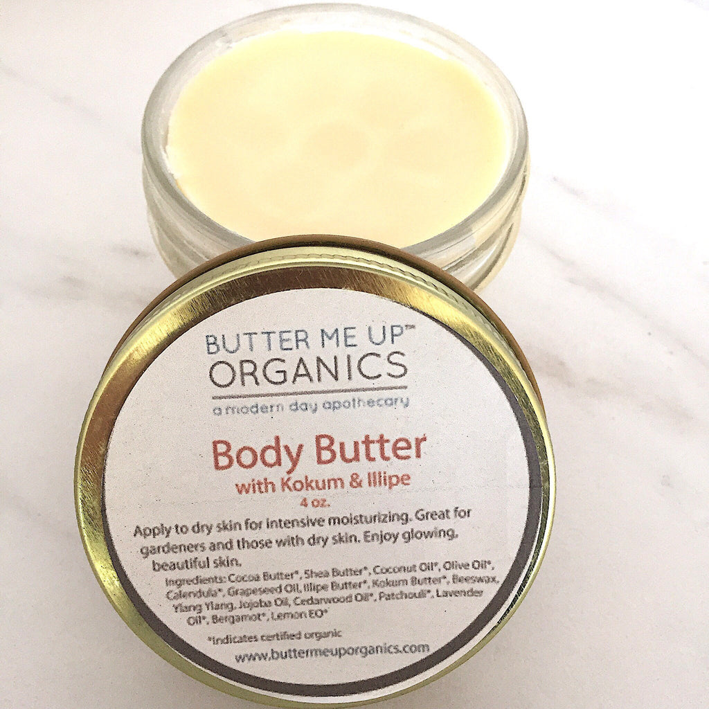 Organic Body Butter / Gardener's Hands / Gardner's Therapy / Elbow Lotion / Heel Lotion / Dry Skin / Dry Hands / Foot Lotion / Hydrating