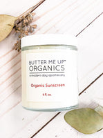 Natural Organic Sunscreen / Safe Sunscreen / Non-Nano Zinc Oxide Sunscreen / Sun Protection / Butter Me Up Organics