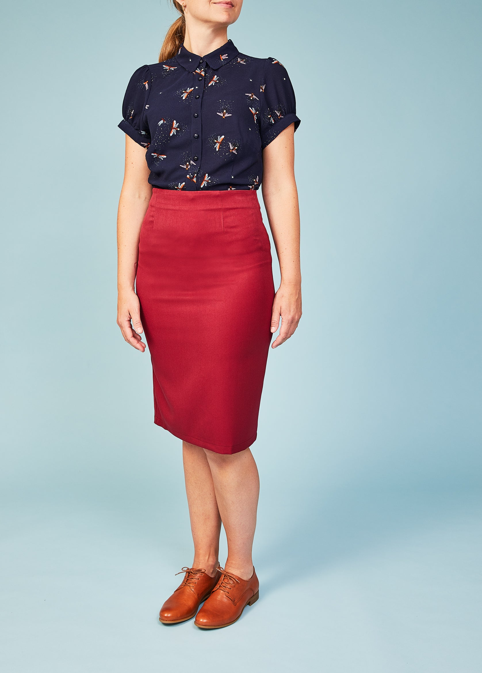 Banned Apparel: Bordeaux pencilskirt