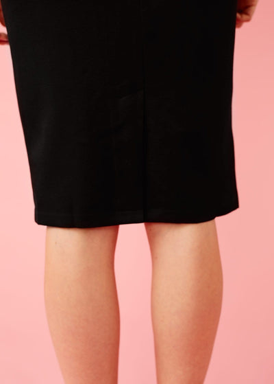 Banned Apparel: Sort, højtaljet pencilskirt