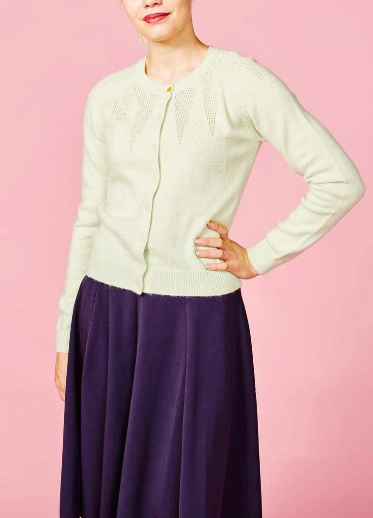 Emily & Fin: Cardigan med uld - lys mint