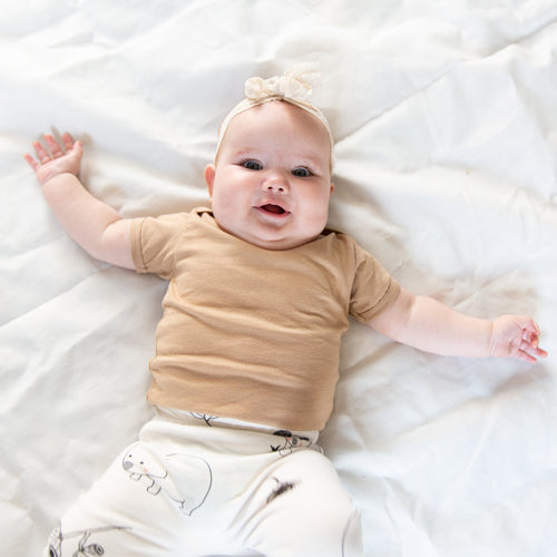 Organic Cotton Baby Shirt - Beige
