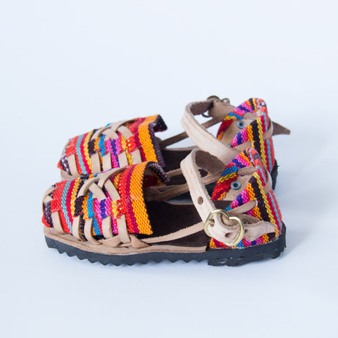 Candy Cross Closed Toe Leather Sandals