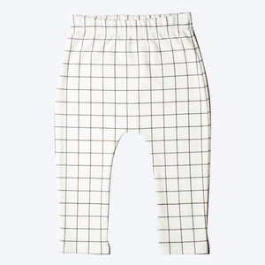 Monochrome Grid Baby Organic Leggings