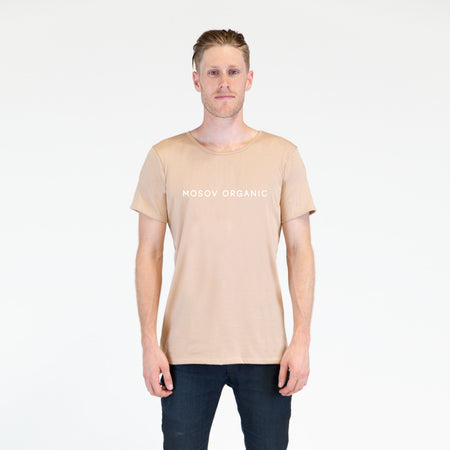 Organic Cotton Logo T-shirt - beige
