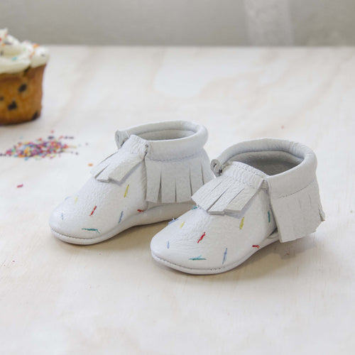 Cupcake Leather Moccasins