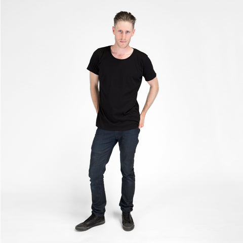 Organic Crew Neck T-shirt Black
