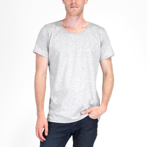 Organic Crew Neck T-shirt Grey Marle