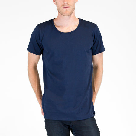 Mens Organic T-shirt Navy 2 Pack