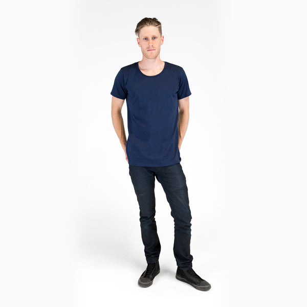 Organic Crew Neck T-shirt Navy