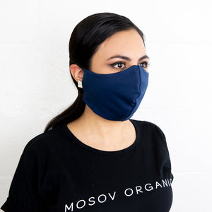 Organic Cotton Face Mask Navy