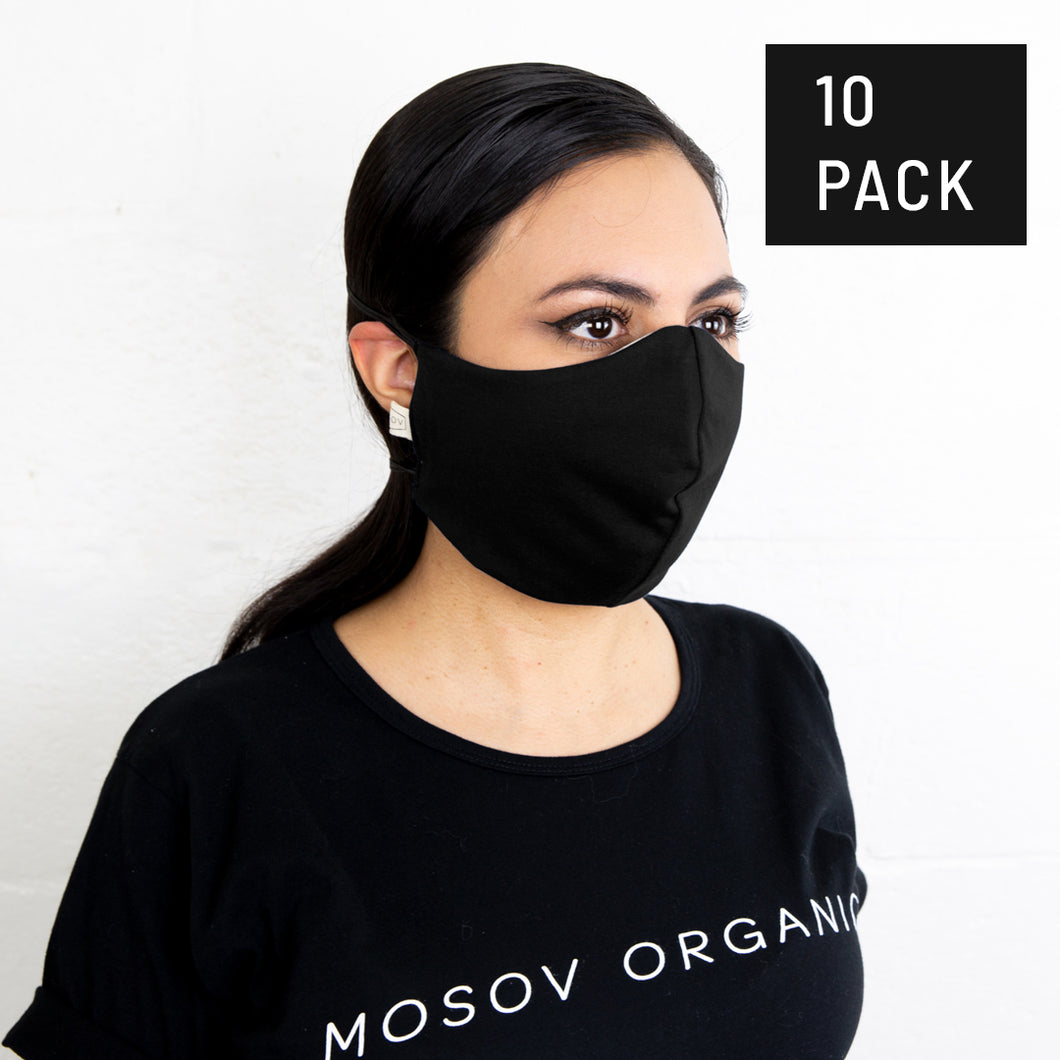 10 PACK Adult's Organic Cotton Face Mask