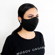 Load image into Gallery viewer, Organic Cotton Face Mask Black
