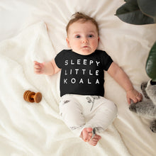 Load image into Gallery viewer, Sleepy Little Koala Organic Shirt Black