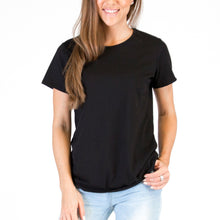 Load image into Gallery viewer, Womens Organic T-shirt Black