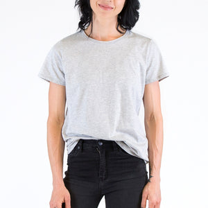 Womens Organic T-shirt Grey Marle