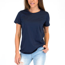 Load image into Gallery viewer, Womens Organic T-shirt Navy