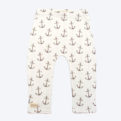 Organic Cotton Baby Leggings - Anchor