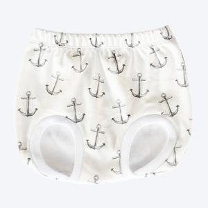 Organic Nappy Cover - Anchors