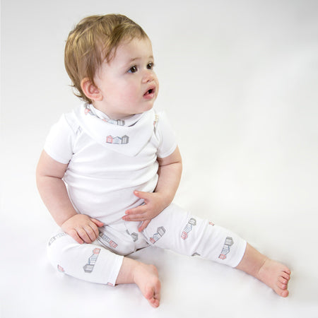 Organic Cotton Baby Leggings - Beach Huts