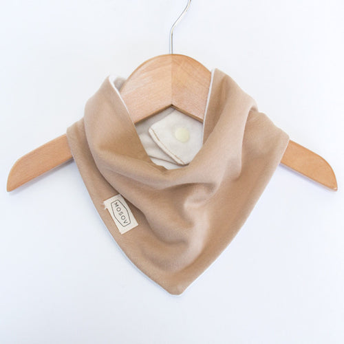Organic Cotton Bib - Beige