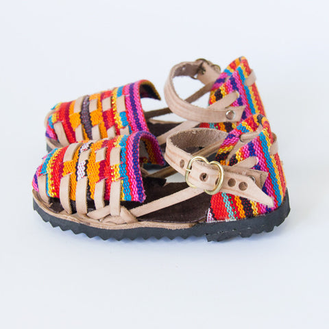 Candy Closed Toe Leather Sandals