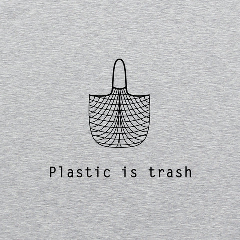 Plastic is Trash - Man Printed Organic T-shirt